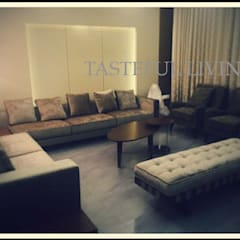 Residential project:  Living room by Tasteful living,
