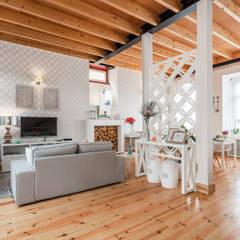 DECORAÇÃO DE HOSTEL - Piso 2 (Tato): Hotéis  por White Glam,Moderno