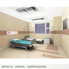 Proyecto de Ampliacion Hospital HER : Cuartos de estilo  por retross arquitectura y proyectos, Clásico