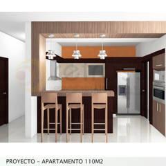 Apartamento 110m2: Cocinas de estilo  por retross arquitectura y proyectos
