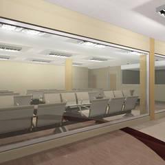 Proyecto de Ampliacion Hospital HER : Pasillos y vestíbulos de estilo  por retross arquitectura y proyectos