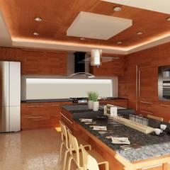 COCINA: Cocinas de estilo  por OLLIN ARQUITECTURA