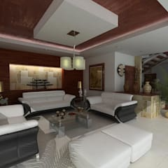 RESIDENCIA SINALOA: Salas de estilo  por OLLIN ARQUITECTURA ,