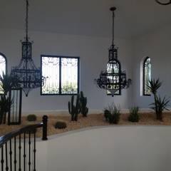 A Luxury Villa in Repubblica Domenicana:  Corridor & hallway by Lid&er  Ltd