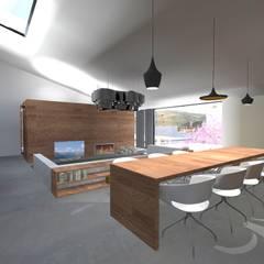 Casa J: Salas de jantar  por Colectivo de Melhoramentos
