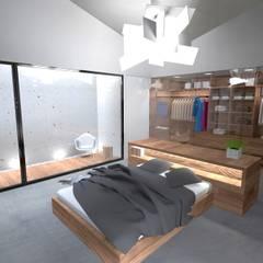 minimalistic Dressing room by Colectivo de Melhoramentos
