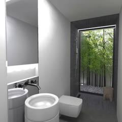 Casa J: Casas de banho  por Colectivo de Melhoramentos