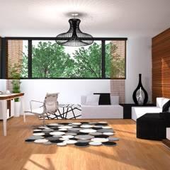 całe pomieszczenie: styl , w kategorii Domowe biuro i gabinet zaprojektowany przez Przytulne Wnętrze