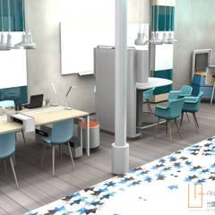 DISEÑO DE INTERIORES:  ESPACIO COWORKING: Edificios de oficinas de estilo  de ANA UTRILLA   DISEÑO DE INTERIORES