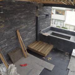 Casa GM5: Terrazas de estilo  por Matatena Arquitectura