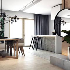 PROJEKT D11_15   | TARNOWSKIE GÓRY: styl , w kategorii Jadalnia zaprojektowany przez A2.STUDIO PRACOWNIA ARCHITEKTURY,