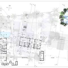 plattegronden:  Muren door architectenbureau Aerlant Cloin BNA
