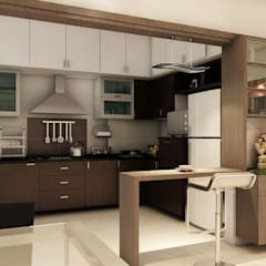 Apartment at Ajmera Infinity:  Kitchen by ACE INTERIORS