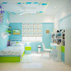 Apartment at Ajmera Infinity: modern Nursery/kid's room by ACE INTERIORS