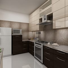 Apartment on Sarjapur Road:  Kitchen by ACE INTERIORS