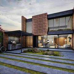 Fachada Interior: Casas de estilo ecléctico por Estudio Meraki