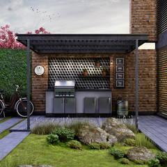 Vista del Jardín y Asador: Casas de estilo ecléctico por Estudio Meraki