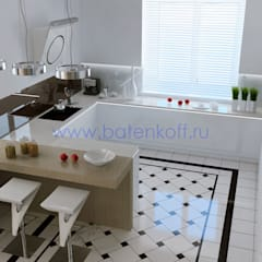 ห้องครัว by Дизайн студия 'Дизайнер интерьера № 1'