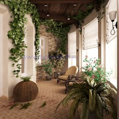 Jardines de invierno de estilo rural por Дизайн студия 'Дизайнер интерьера № 1'