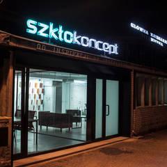 Showroom dla firmy Saint-Gobain: styl , w kategorii Centra handlowe zaprojektowany przez mech.build