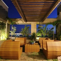 LIVING WITH NATURE:  Terrace by Archana Shah & Associates,
