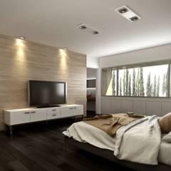 Vivienda en Rincon de Emilio, Neuquen Capital, Argentina: Dormitorios de estilo  por Chazarreta-Tohus-Almendra,Moderno