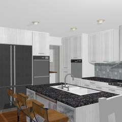 Casa Ladera - estilo escandinavo: Cocinas de estilo escandinavo por A3D-Projection S.A.S.