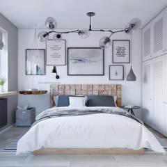 Малогабаритная квартира: Спальни в . Автор – Elena Arsentyeva