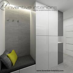 Siedzisko w przedpokoju: styl , w kategorii Korytarz, przedpokój zaprojektowany przez Inventive Interiors