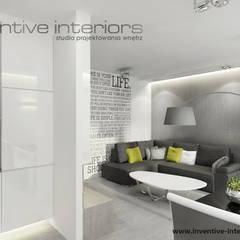 Szary narożnik w salonie: styl , w kategorii Salon zaprojektowany przez Inventive Interiors