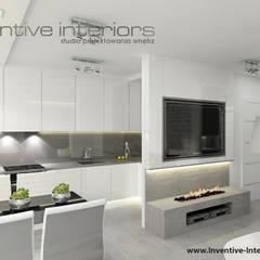 Biokominek w mieszkaniu: styl , w kategorii Salon zaprojektowany przez Inventive Interiors