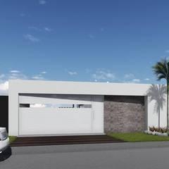 Cửa nhà để xe by ARBOL Arquitectos