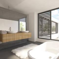 Villa JSPE: minimalistische Badkamer door 2architecten
