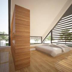 Villa JSPE:  Slaapkamer door 2architecten