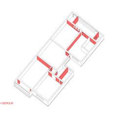 Apto. João - Diagrama: Paredes  por RSRG Arquitetos