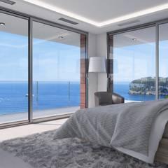 Villa Poseidon: moderne Schlafzimmer von Miralbó Excellence