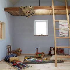 House in Higashinada: Mimasis Design/ミメイシス デザインが手掛けた子供部屋です。