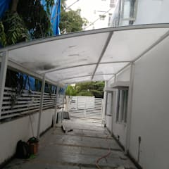 Poly Carbonate Sheet Car Parking :  Garage/shed by Fabritech India