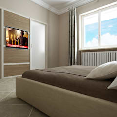 CASA DT: Camera da letto in stile in stile Moderno di De Vivo Home Design