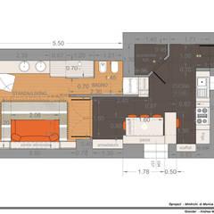 اتاق نشیمن توسطMmArchi.  I  Monica Maraspin Architetto, مدرن