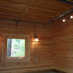 多目的小屋の内部: Cottage Style / コテージスタイルが手掛けたガレージです。