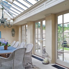 Impressive Twin Classical Orangeries - Dining Room:  Conservatory by Vale Garden Houses