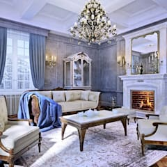 Classic style at interiors.: Гостиная в . Автор – Design studio of Stanislav Orekhov. ARCHITECTURE / INTERIOR DESIGN / VISUALIZATION.,