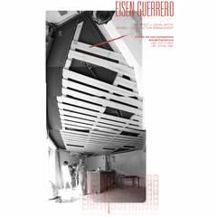 Techo en la fase de ejecución: Bodegas de vino de estilo minimalista por Eisen Arquitecto