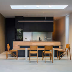 Block House:  Dining room by Mustard Architects