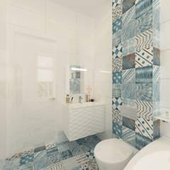 Дом для молодой семьи с 2мя детьми.: Ванные комнаты в . Автор – Ivantsov design studio