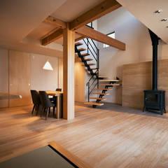 須磨の家 自然の素材に、つつまれて暮らす: 株式会社seki.designが手掛けた壁です。,