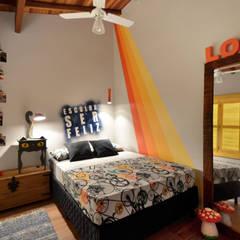 BEACH HOUSE - TRAMANDAÍ/RS: Quartos  por Arquitetando ideias,Tropical