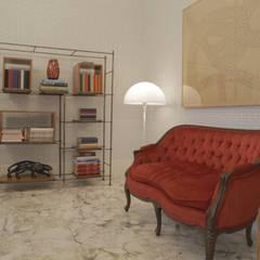 Dicas Gafisa - Móveis Vintage: Sala de estar  por Casa de Valentina,