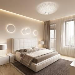 Квартира в современном стиле, 153 кв.м.: Спальни в . Автор – Студия Павла Полынова